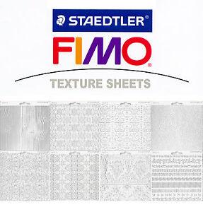 FIMO Accessoires Feuille Structure Texture Sheet 168x150 MM 8 Variantes Diverses
