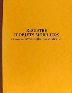 LIVRE-DE-POLICE-REGISTRE-D-039-OBJETS-MOBILIERS-BROCANTE-ET-GARAGE-80-pages