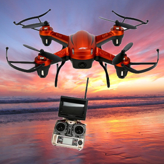 JJRC H32GH 5.8Ghz FPV 2.4Gh cf Antena 6 ejes 4CH Cuadricóptero LISTO PARA VOLAR 2MP Cámara drone