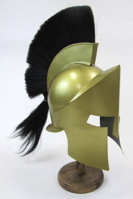 LEONIDAS 300 HELMET WITH PLUME ~ KING LEONIDAS 300 MOVIE HELMET ~ ARMOR HELMET