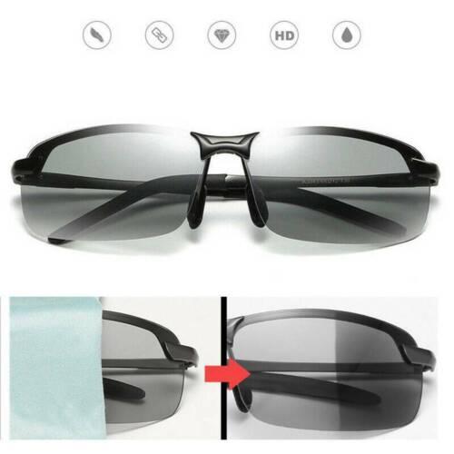 Polarized Photochromic Sunglasses Men/'s UV400 Driving Transition Lens Glasses UK