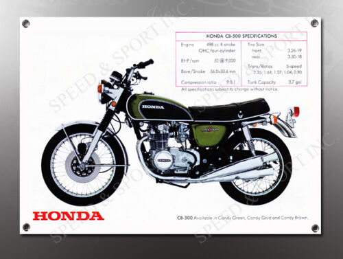 VINTAGE HONDA CB500 IMAGE BANNER NOS IMAGE REPRODUCTION