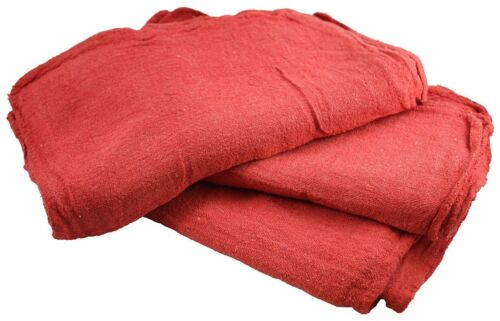 "TOWELS RED 12/'/'X12/"" to 14/""x14/"" 1000 INDUSTRIAL SHOP CLEANUP RAGS HIGH GRADE!"