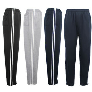 New-Mens-Plain-Trousers-Track-Sweat-Pants-Suit-Gym-Jogging-Casual-Sport-Trackies
