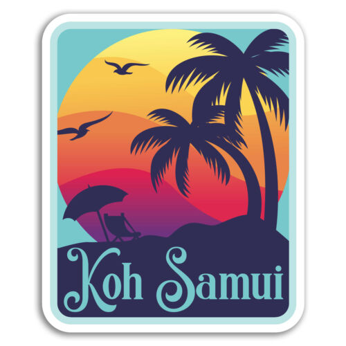 Thailand Cool Sticker Laptop Luggage #18356 2 x 10cm Koh Samui Vinyl Stickers