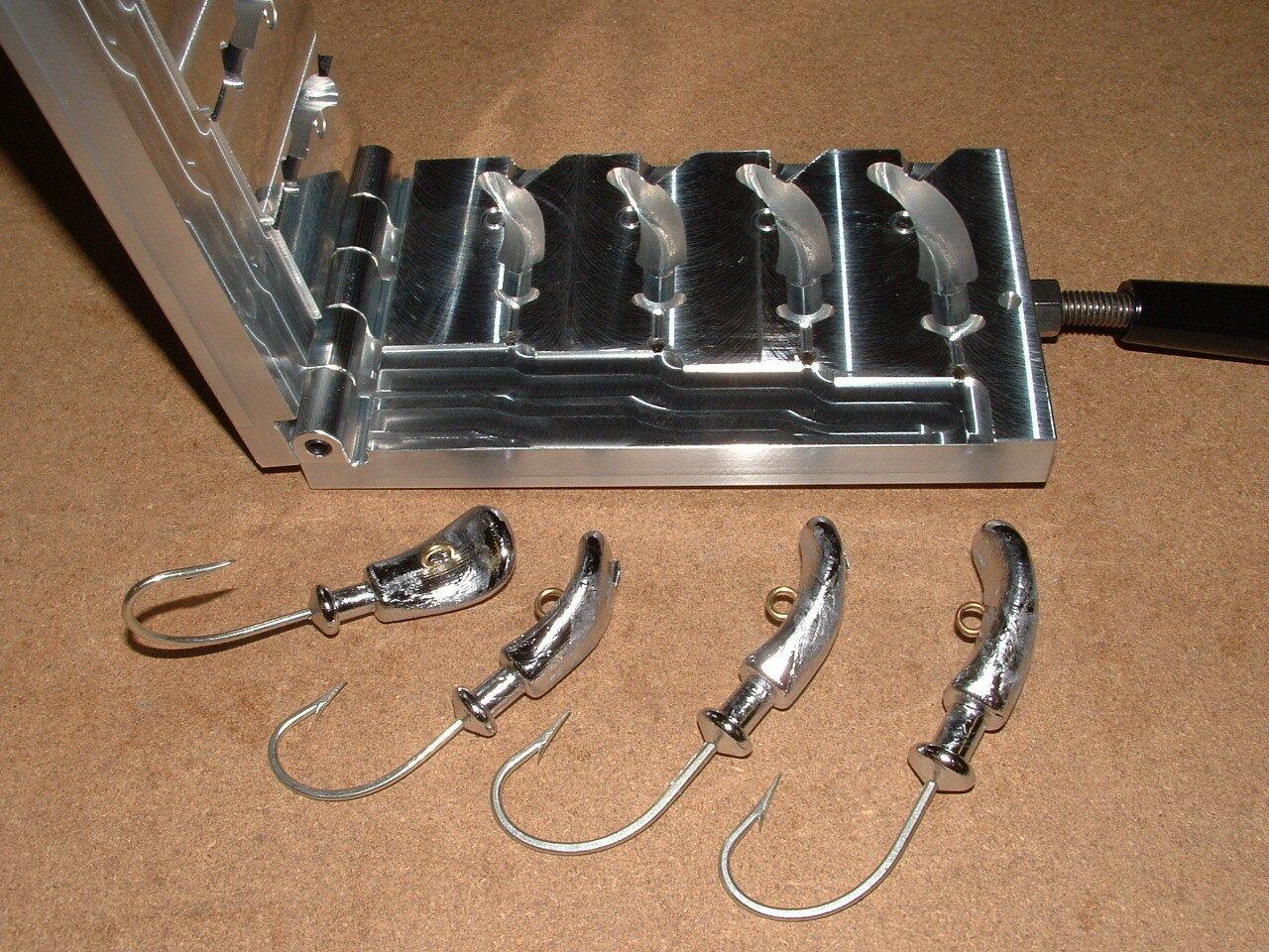 Saltwater Boxer Jig -4 mold 2,2.5,3,4,5oz CNC Aluminum