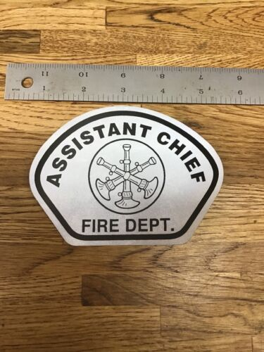 Rescue Helmet Shield Decal B-7 Assistant Chief Silver// Black 3M  Firefighter