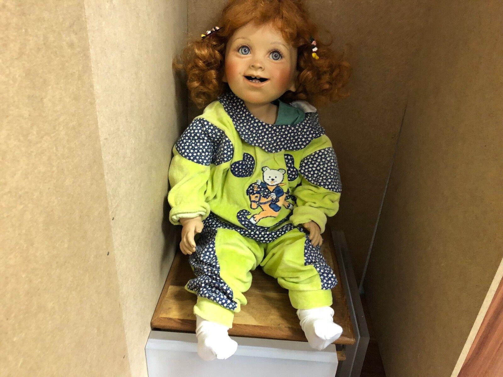 Artistas muñeca muñeca de porcelana 64 cm. top estado.