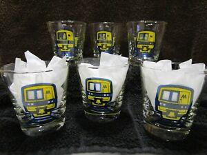 Vintage-Long-Island-Railroad-6-5-Oz-Whiskey-Bourbon-Glasses-Set-of-6-With-Box