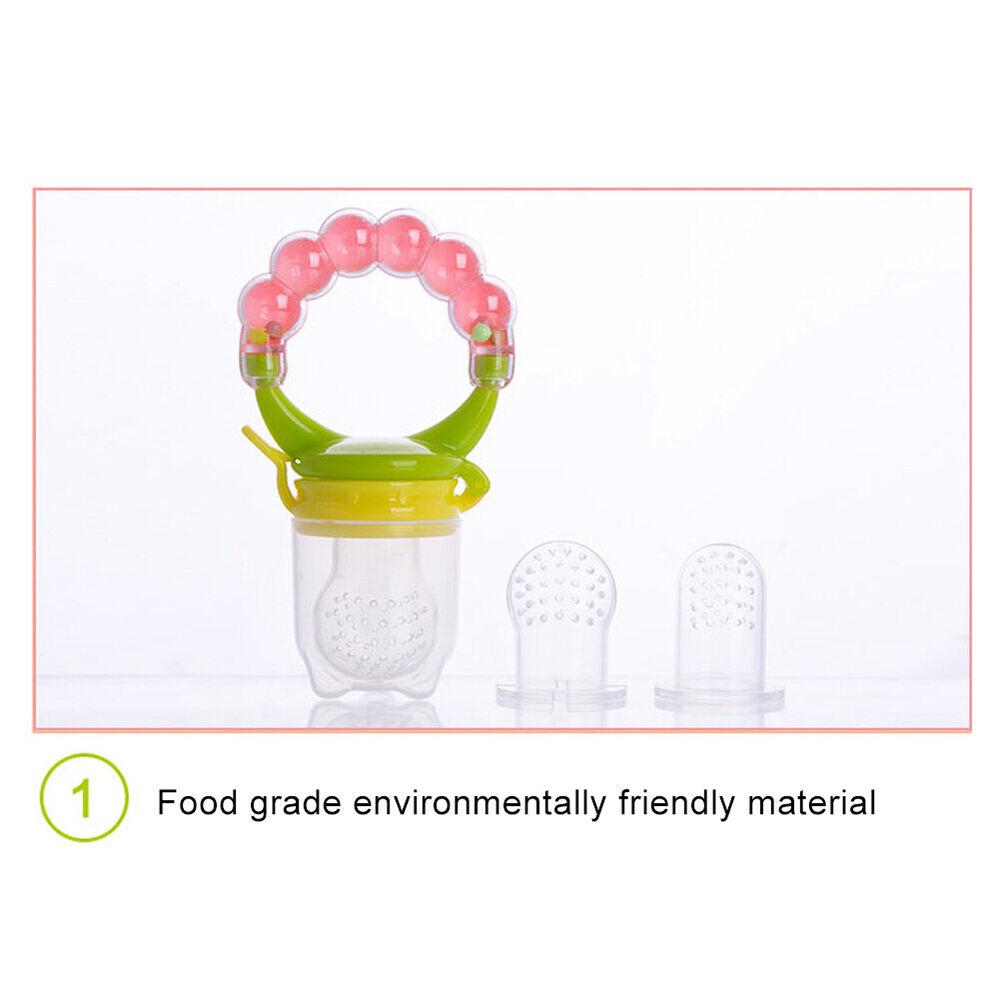 Baby Teether Fruit Feeder Infant Fresh Food Pacifier Silicone Teething Nibbler Baby