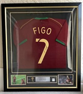 the best attitude dc524 f2fe0 Details about LUIS FIGO: ICONS.COM PREMIUM FRAMED SIGNED FOOTBALL SHIRT