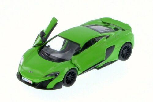 New Kinsmart 5 McLaren 675LT Diecast Model Toy Car 1:36 Pull Action- Green