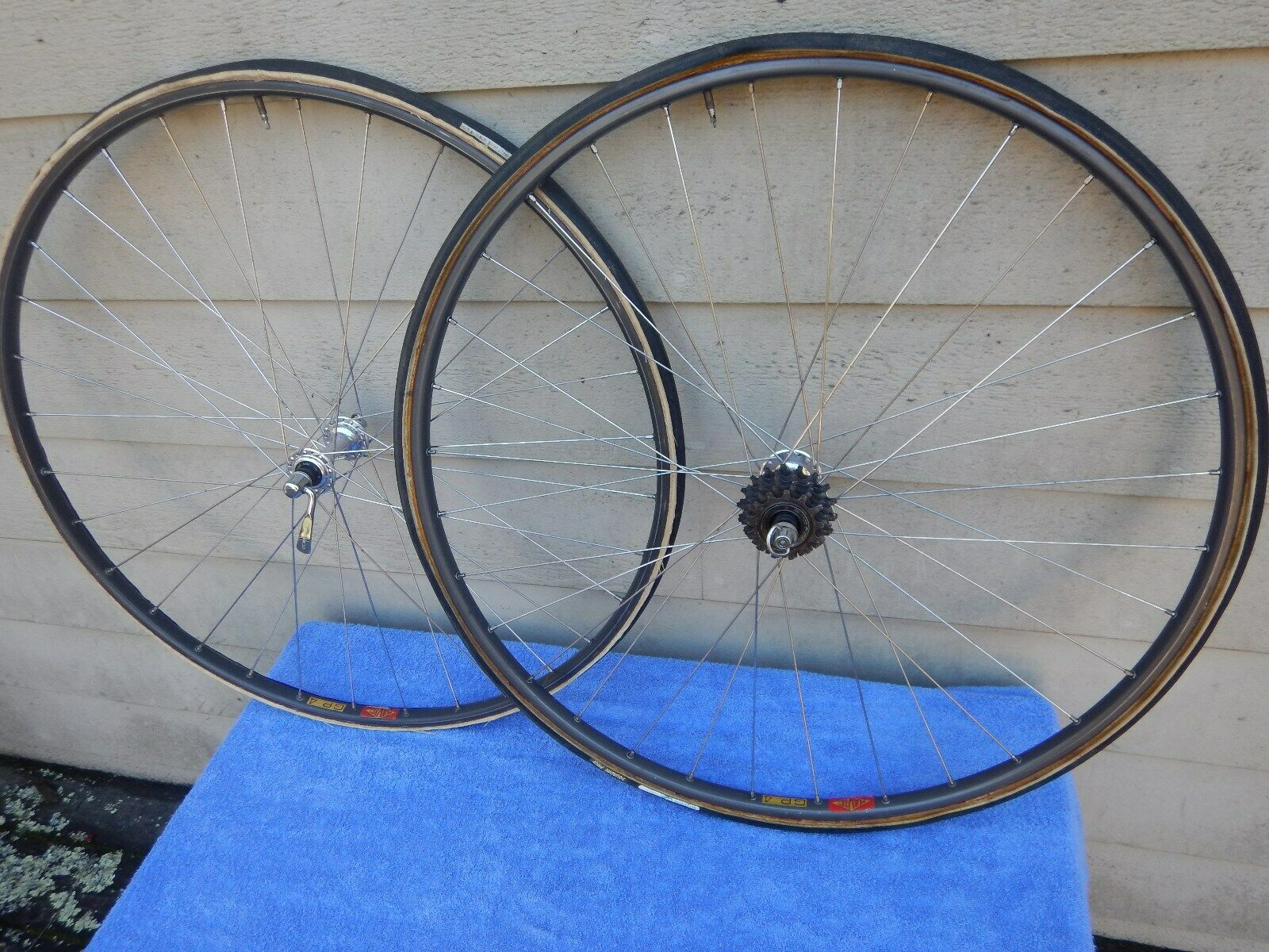 Dura Ace Mavic GP4 Tubular Wheelset 700C Vintage Wheels GP-4 Cinelli Road Bike