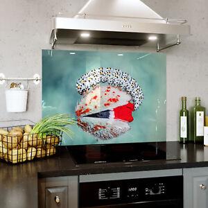 Splashback En Verre Cuisine Cuisinière Blanc Chenille Flower Moth Toute Taille 0503-afficher Le Titre D'origine