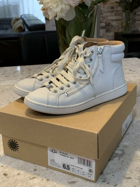 Olive High Top Sneaker Size