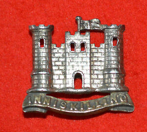 British-Army-6th-Inniskilling-Dragoons-Genuine-Officer-s-Scarce-Cap-Badge