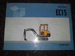volvo ec15 excavator parts book manual ebay rh ebay co uk  volvo ec15 service manual pdf
