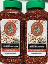 Aromatica Crushed ORGANIC Red Chili Pepper Flake 26 oz ( 2 Pks X 13oz ) NOT BULK