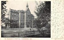 ST. MARGARET'S HOSPITAL HAMMOND INDIANA TO SWITZERLAND POSTCARD 1904