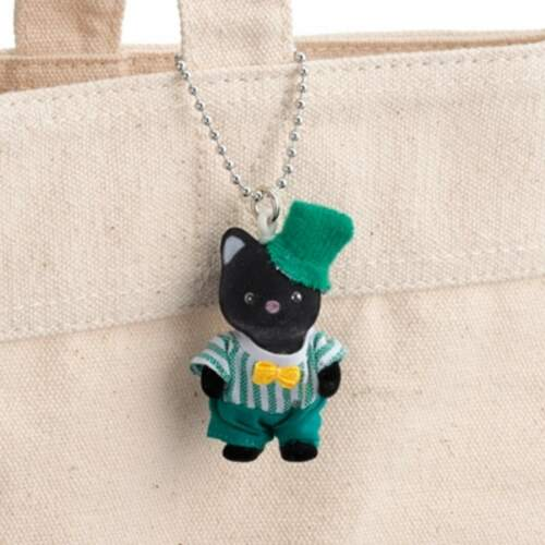 SYLVANIAN FAMILIES CALICO CRITTERS CHARCOAL CAT  BABY KEY CHAIN EPOCH JAPAN F//S