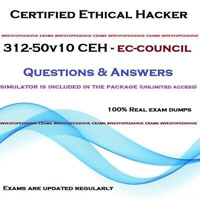EC-Council 312-50V10 Certified Ethical Hacker V10 312-50 Test CEH Exam Q PDF+SIM