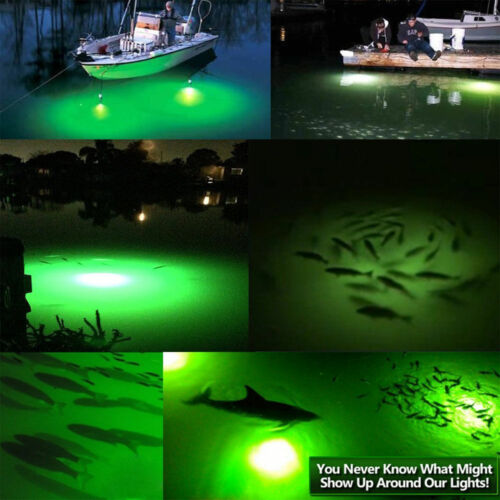 12V-24V LED Underwater Night Fishing Lights Boat Lure Fish Lamp Fish Attraction