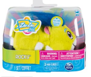 "Zhu Zhu Pets-SpinMaster 4/"" Hamster jouet avec son /& mouvement-ROCKY"