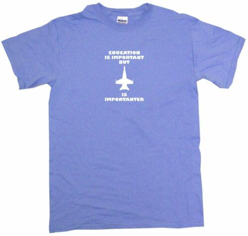 Education is Important but Fighter Jet is Importanter Mens Tee Shirt Pick