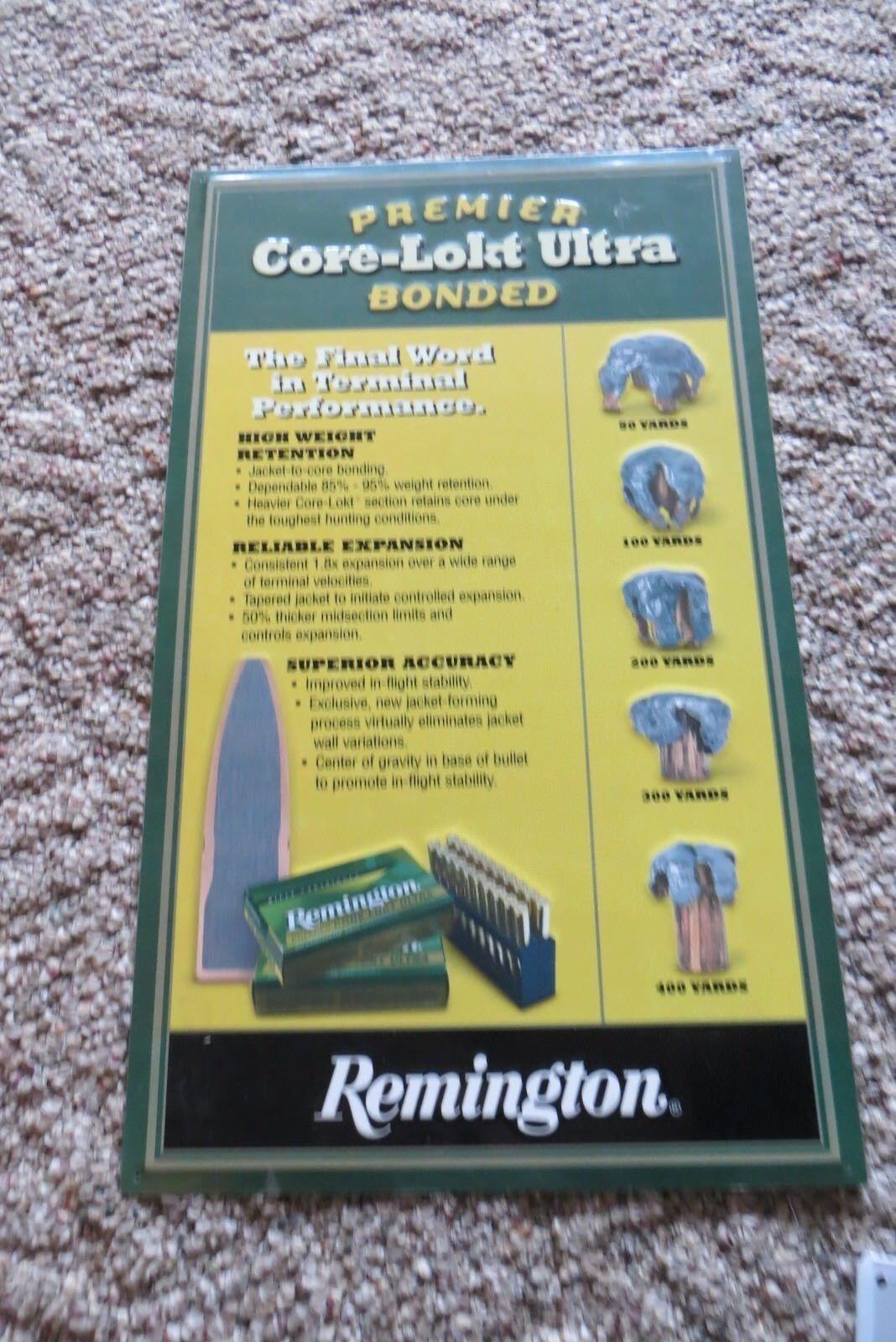 Premier Core-lokt Ultra Bonded Remington Rifle Pistola en relieve de Concha signo de tienda