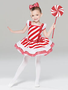Christmas Ice Skating Costumes.Details About New Figure Ice Skating Baton Twirling Holiday Costume Christmas Candy Cane