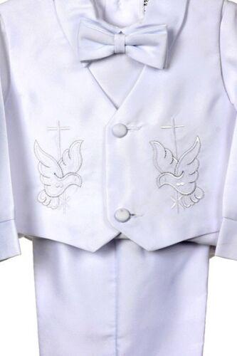 0M-24M Baby Boy Communion Christening Baptism Outfit Suit set size XS S M L XL