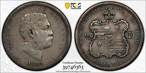 1883-50C-Hawaii-Silver-Half-Dollar-PCGS-VF-Details-Rare-Beautiful-amp-Coin-6363