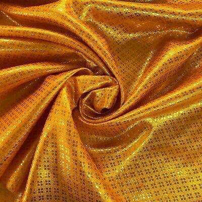 "BROCADE FABRIC Gold /& Metallic Gold 44/"""