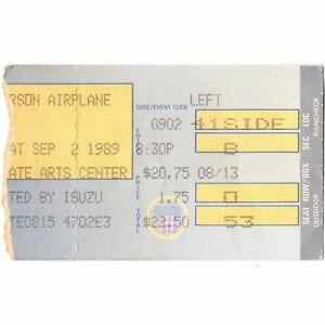JEFFERSON-AIRPLANE-Concert-Ticket-Stub-HOLMDEL-NJ-9-2-89-GARDEN-STATES-ARTS-CTR