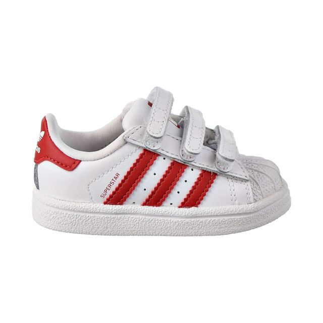 adidas Originals Superstar CF C White//Real Pink Leather Junior Trainers Shoes