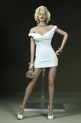 "1//6 Scale Marilyn Monroe Short White Dress Mini Skirt F 12/"" Female Figure Body"