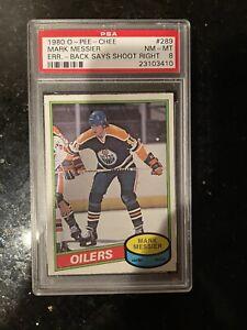 1980 O-Pee-Chee Mark Messier PSA 8 NM-MT #289 Rookie Card RC OPC Error