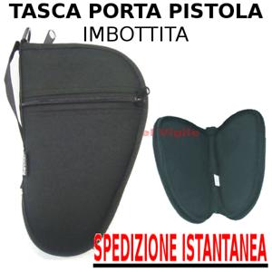 Borsello-astuccio-Small-porta-pistola-custodia-imbottita-cerniera-e-tasca-FODERO