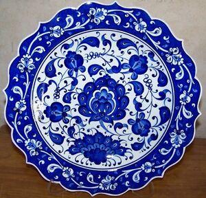 ... Carnation-Handpainted-12-034-30cm-Turkish-Blue-&-  sc 1 st  eBay & Carnation Handpainted 12
