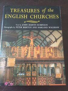 034-Treasures-of-the-English-Churches-034-John-Martin-Robinson-Hardback-1995-VGC