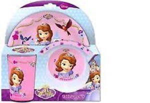 Disney-Sofia-The-First-034-CONFISERIE-COMME-UN-PRINCESSE-034-3-Pieces-Vaisselle-set