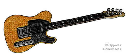 ELECTRIC GUITAR IRON-ON PATCH embroidered ROCK ROLL MUSIC INSTRUMENT APPLIQUE #2