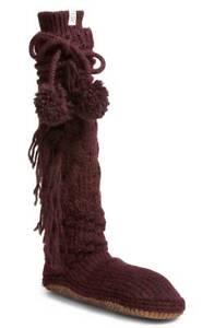 Calze Heather Knit Womens pantofola Xs small Pom accogliente New 1018814 Wool Port Ugg Z0wqZxHa