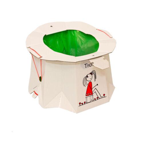 10 Stück Einweg Kinder Töpchen Zusammenklappbar für Unterwegs Klo Toilette Öko