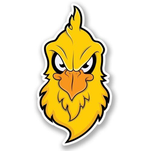 2 x Angry Chicken Head Vinyl Sticker Laptop Travel Luggage #4641
