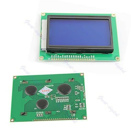 New 12864 128x64 Dots Graphic LCD Display New Module Blue Backlight