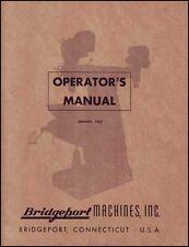 Bridgeport Operators Manual Early J Head Dovetail Ram