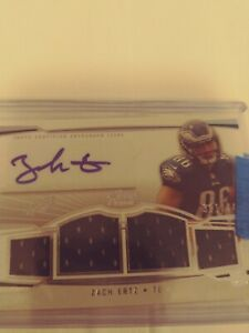 2013 Zach Ertz Rookie Topps Prime /449 4 Patch Auto #PV-ZE (See Pictures)