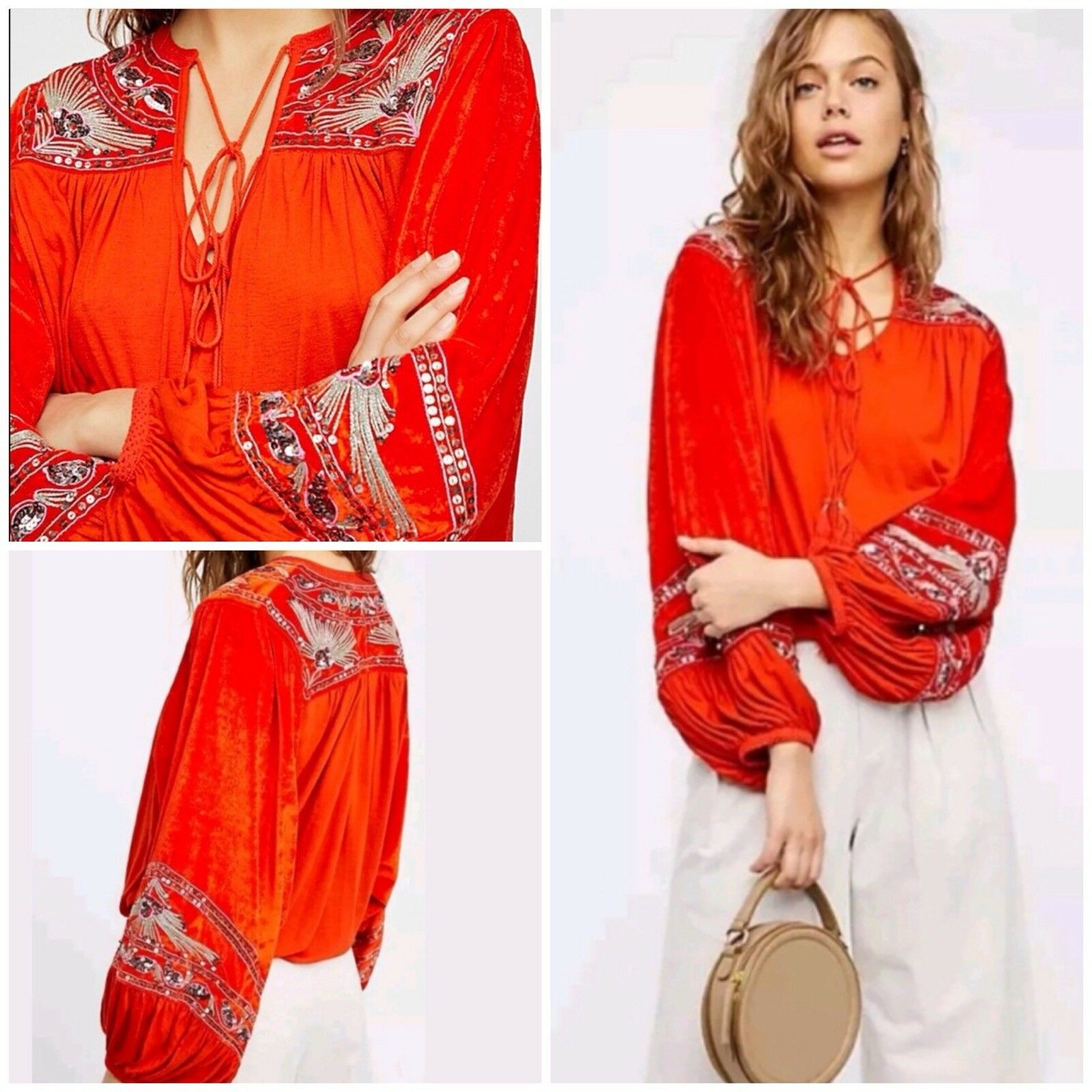 Free People Hearts Aflame Top Größe Large New