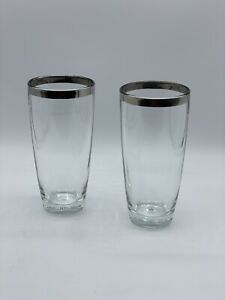 SET-OF-2-VINTAGE-MCM-DOROTHY-THORPE-SILVER-BAND-ROLY-POLY-12OZ-COCKTAIL-GLASSES